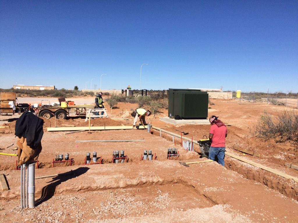 Our general contractor, Highland Enterprises, has done a tremendous job on our site.