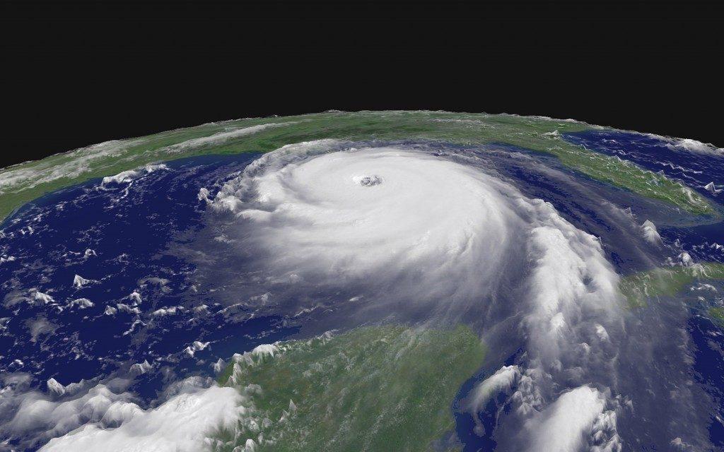 Hurricane Katrina making landfall in 2005