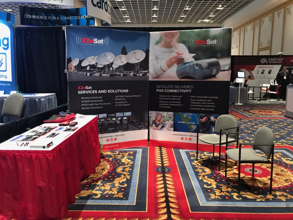 The X2nSat booth at RSPA's RetailNOW! 2017